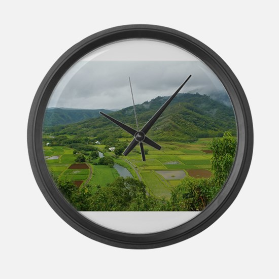 A River Runs Through It Large Wall Clock