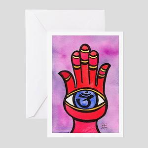 Hamsa Art & Aum Greeting Cards (Pk of 10)