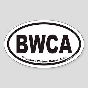 BWCA Boundary Waters Canoe Area Euro Oval Sticker