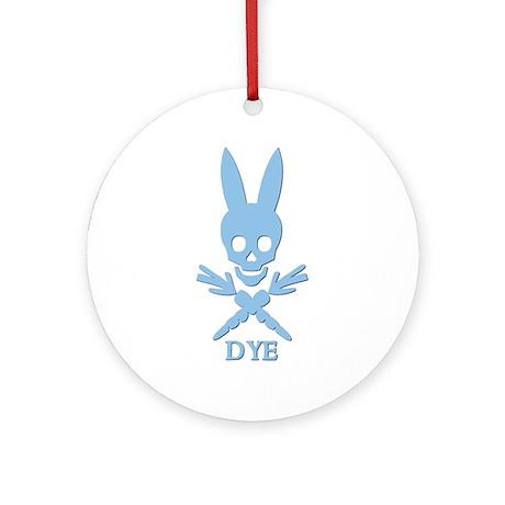 DYE (blue) Ornament (Round)