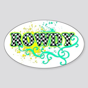 Rowdy 1 Oval Sticker
