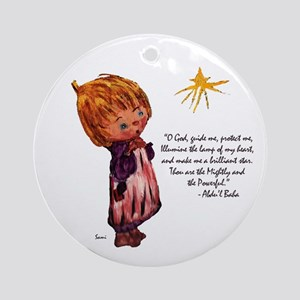 O God Guide Me Ornament (Round)