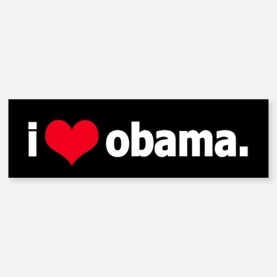 I *heart* Obama Bumper Bumper Bumper Sticker