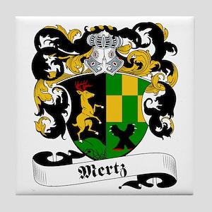 Mertz Family Crest Tile Coaster