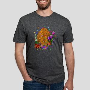 Tiger Skin Easter Egg Mens Tri-blend T-Shirt