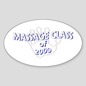 Massage Class of Oval Sticker