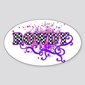 Rowdy 2 Oval Sticker