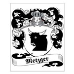 Metzger Family Crest Small Poster