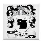 Metzger Family Crest Tile Coaster