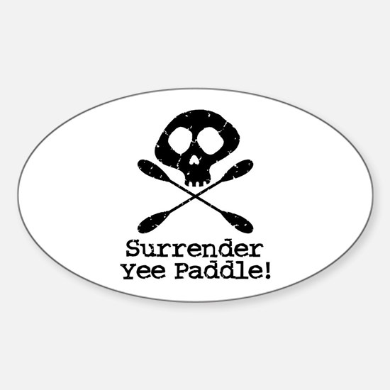 Kayaking Pirate Oval Decal