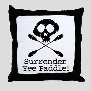 Kayaking Pirate Throw Pillow