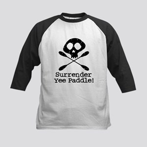 Kayaking Pirate Kids Baseball Jersey