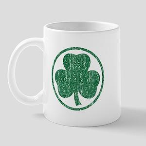Vintage Green Shamrock Mug