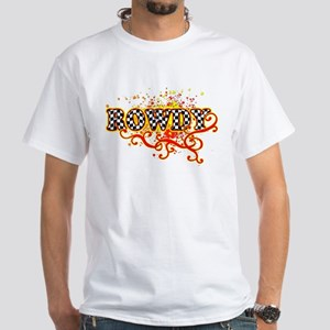 Rowdy 3 White T-Shirt
