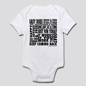 Recovery Slogans Infant Bodysuit