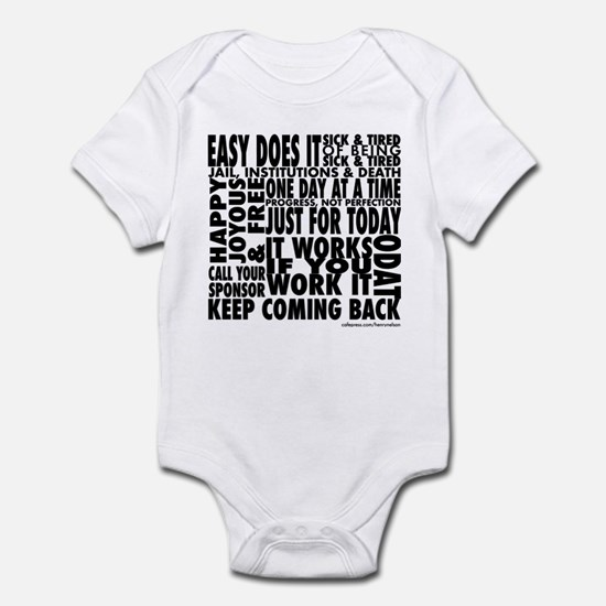 Recovery Slogans Infant Bodysuit