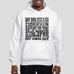 Recovery Slogans Hooded Sweatshirt