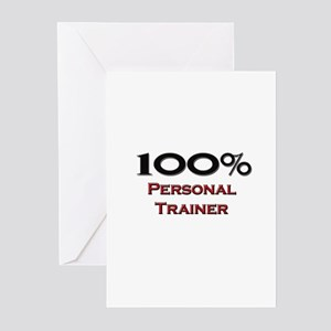 100 Percent Personal Trainer Greeting Cards (Pk of