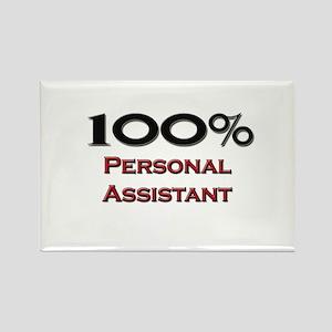 100 Percent Personal Assistant Rectangle Magnet