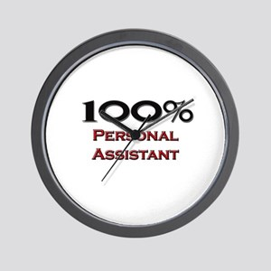 100 Percent Personal Assistant Wall Clock