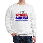 Sticks&Skins Logo Sweatshirt (white or gray)