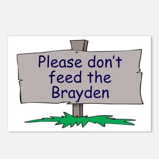 Please don't feed the Brayden Postcards (Package o
