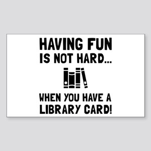 Library Card Fun Sticker