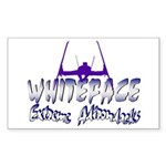 Whiteface Rectangle Sticker
