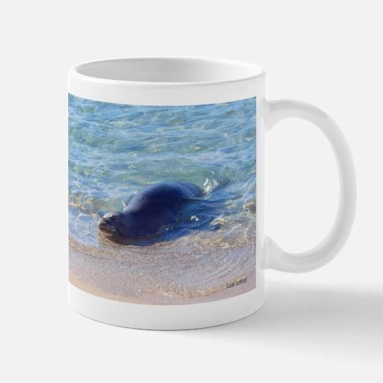 Benny the monk seal Mugs