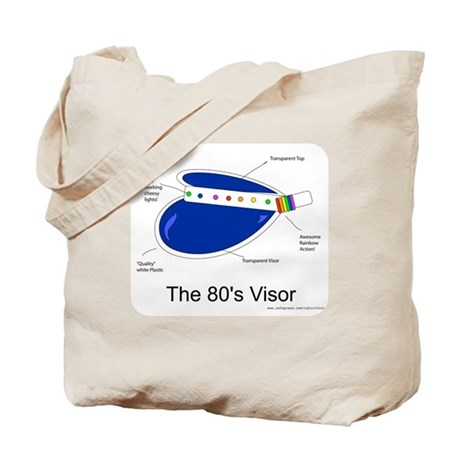 Crazy 80s Visor Tote Bag