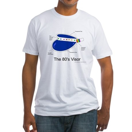 Crazy 80s Visor Fitted T-Shirt