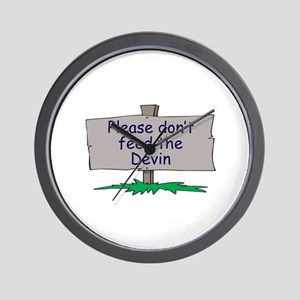 Please don't feed the Devin Wall Clock