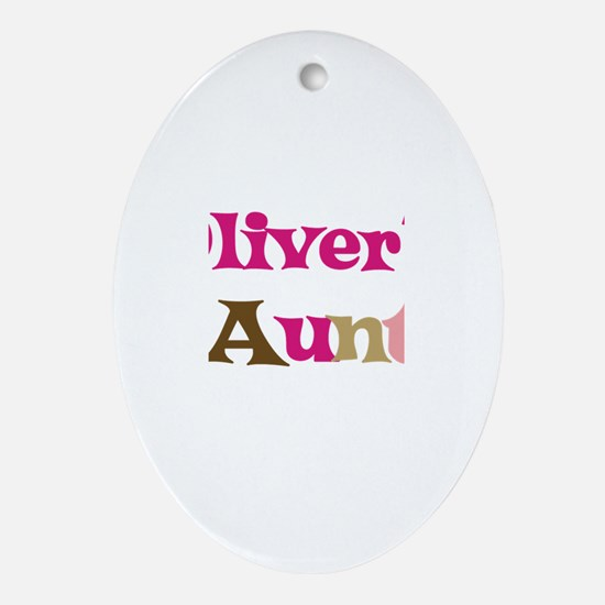 Oliver's Aunt Oval Ornament