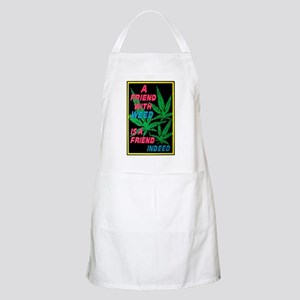 Friend With Weed BBQ Apron