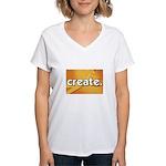 Create - Scissors - Crafts Women's V-Neck T-Shirt