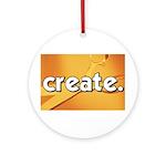Create - Scissors - Crafts Ornament (Round)