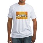 Create - Scissors - Crafts Fitted T-Shirt