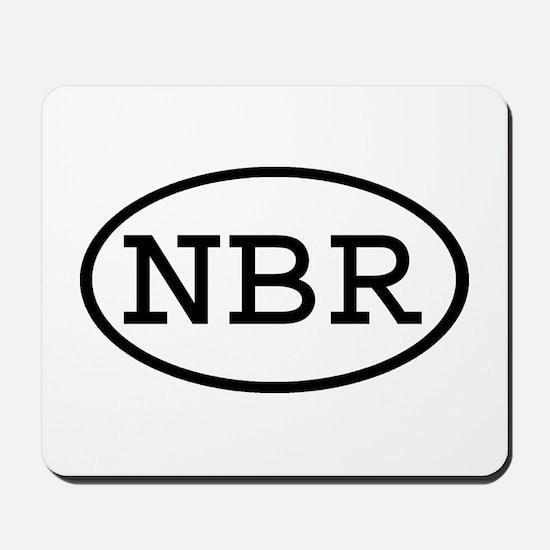 NBR Oval Mousepad
