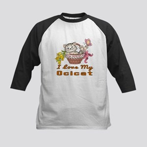 I Love My Ocicat Designs Kids Baseball Jersey