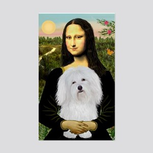 Mona/Coton de Tulear (#7) Rectangle Sticker