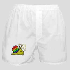 pot smoking snail Boxer Shorts