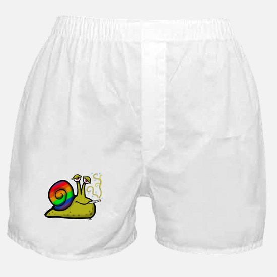 pot smoking snail Boxer Shorts