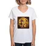 GOLDEN DRAGON Women's V-Neck T-Shirt