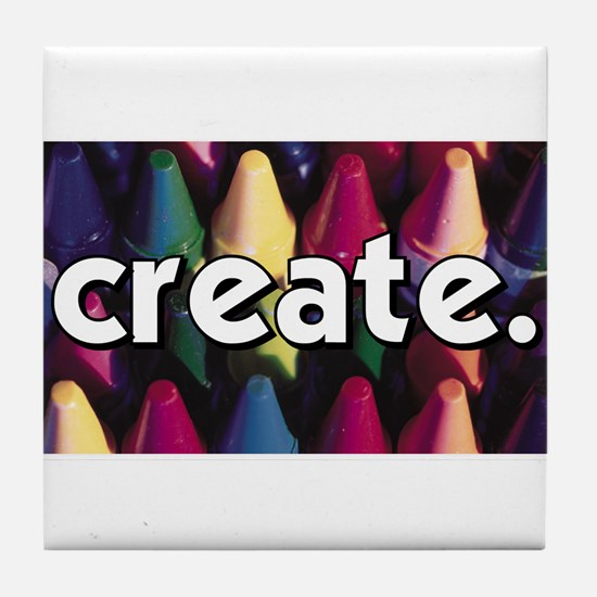 Create - Crayons - Crafts Tile Coaster