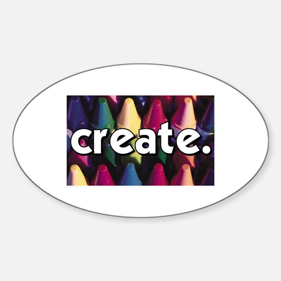 Create - Crayons - Crafts Oval Decal