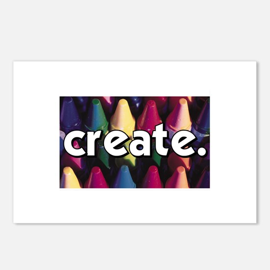 Create - Crayons - Crafts Postcards (Package of 8)