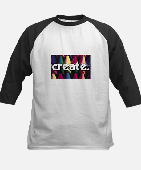 Create - Crayons - Crafts Kids Baseball Jersey