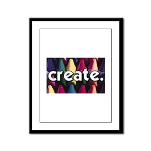 Create - Crayons - Crafts Framed Panel Print