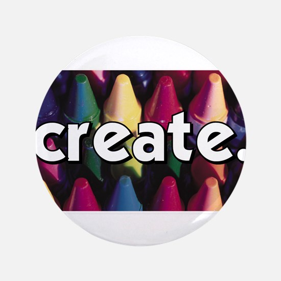 "Create - Crayons - Crafts 3.5"" Button"
