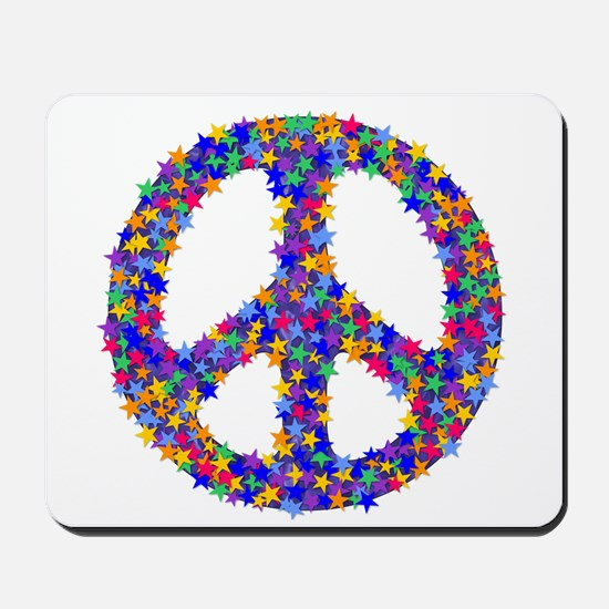 Star Peace Symbol Mousepad